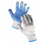 Plover knitted gloves with PVC dots