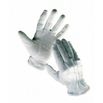 Bustard sewn gloves with PVC mini-dots