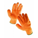 Falcon knitted gloves with PVC grid