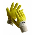 Twite latex coated gloves