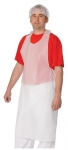 Disposable polyethylene apron