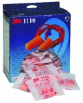 3M 1110 corded foam ear plugs 1