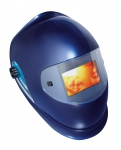 Barrier welding helmet