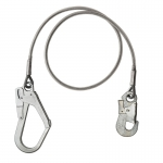 Metal wire lanyard with K20 and K55 hooks