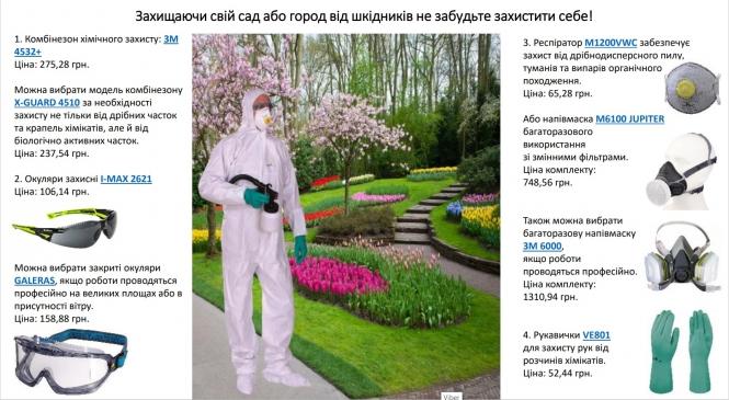 Захищаючи свій сад або город від шкідників не забудьте захистити себе!
